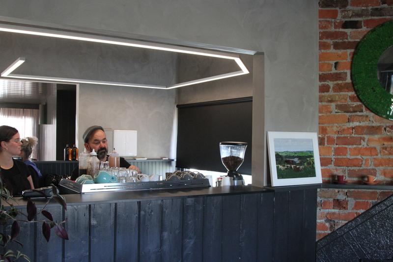Cafe inside open